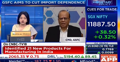 GSFC CMD's interaction with CNBC TV18
